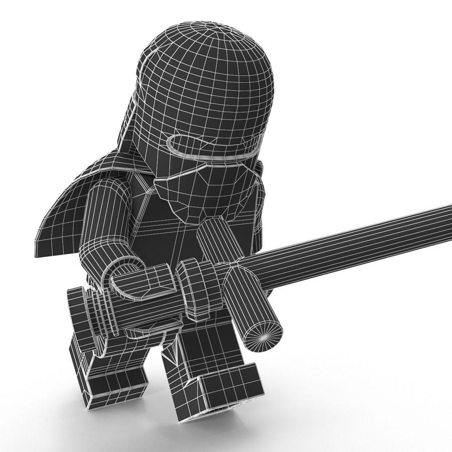 Lego Kylo Ren royalty-free 3d model - Preview no. 15
