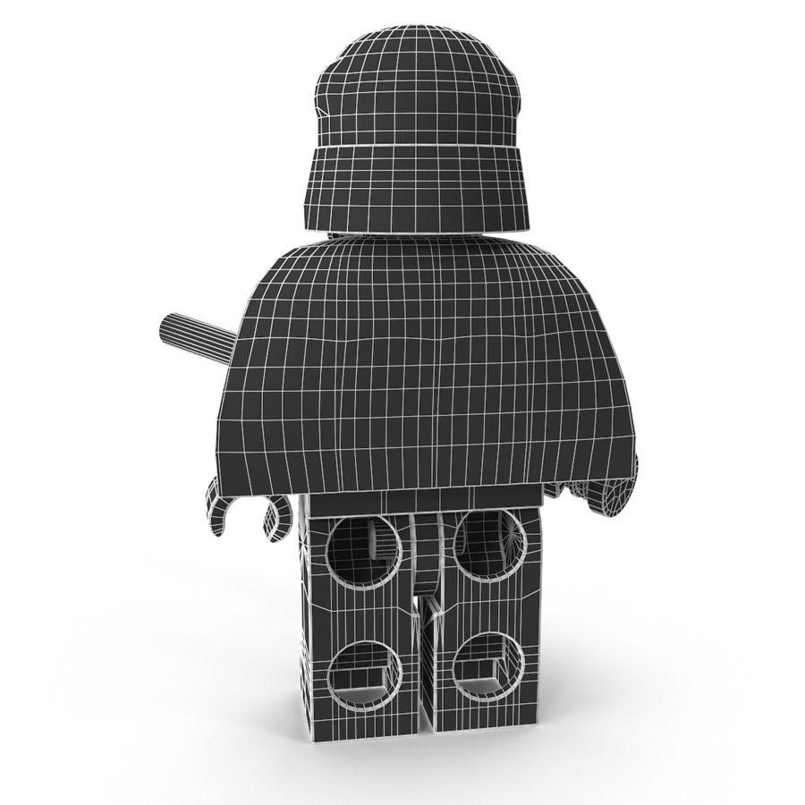 Lego Kylo Ren royalty-free 3d model - Preview no. 19