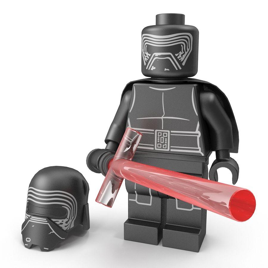 Lego Kylo Ren royalty-free 3d model - Preview no. 3