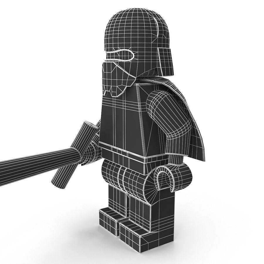 Lego Kylo Ren royalty-free 3d model - Preview no. 16