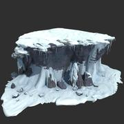Rocks with Snow 02 3d model