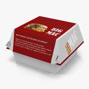 Burger Box Big Mac 3d model