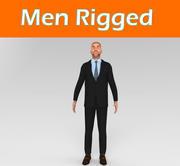 Rigged Man Красивый Парень (1) 3d model