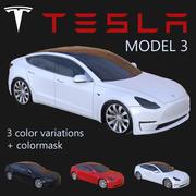 Tesla Model 3 PBR 3d model
