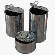 空のブリキ缶を開く 3d model