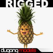 Cartoon Pineapple Rigged 3d model