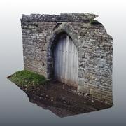 Varredura de porta medieval 02 3d model