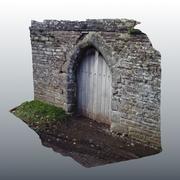 Medieval Door Scan 02 3d model