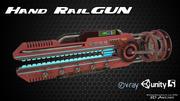 Hand RailGun 3d model