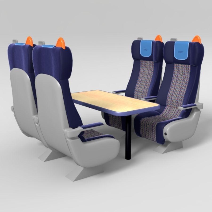 Train Seat 3D Model $49 -  obj  fbx  lwo - Free3D