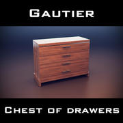 Gautier Yoko Chest Of Drawers 3d model