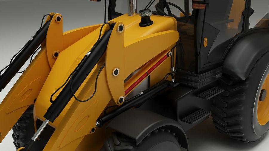 backhoe loader royalty-free 3d model - Preview no. 5
