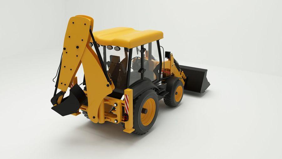backhoe loader royalty-free 3d model - Preview no. 4