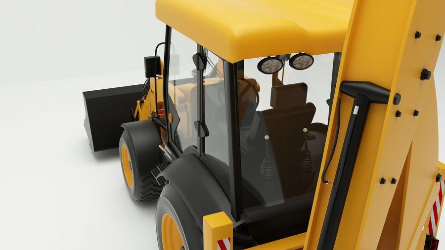 backhoe loader royalty-free 3d model - Preview no. 6