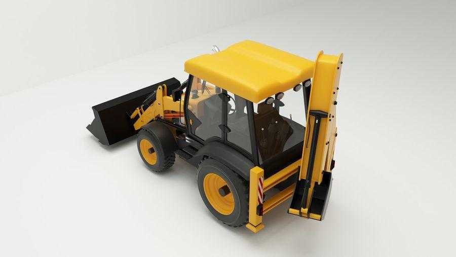 backhoe loader royalty-free 3d model - Preview no. 3
