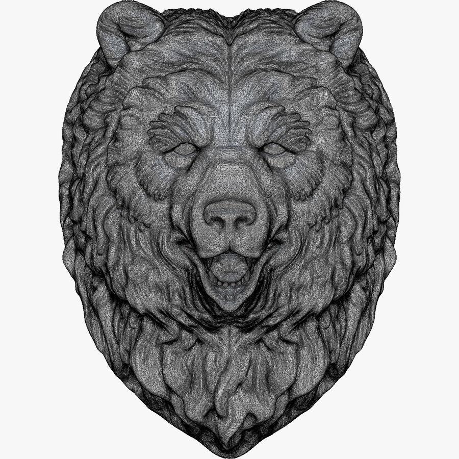 熊头雕塑 royalty-free 3d model - Preview no. 10