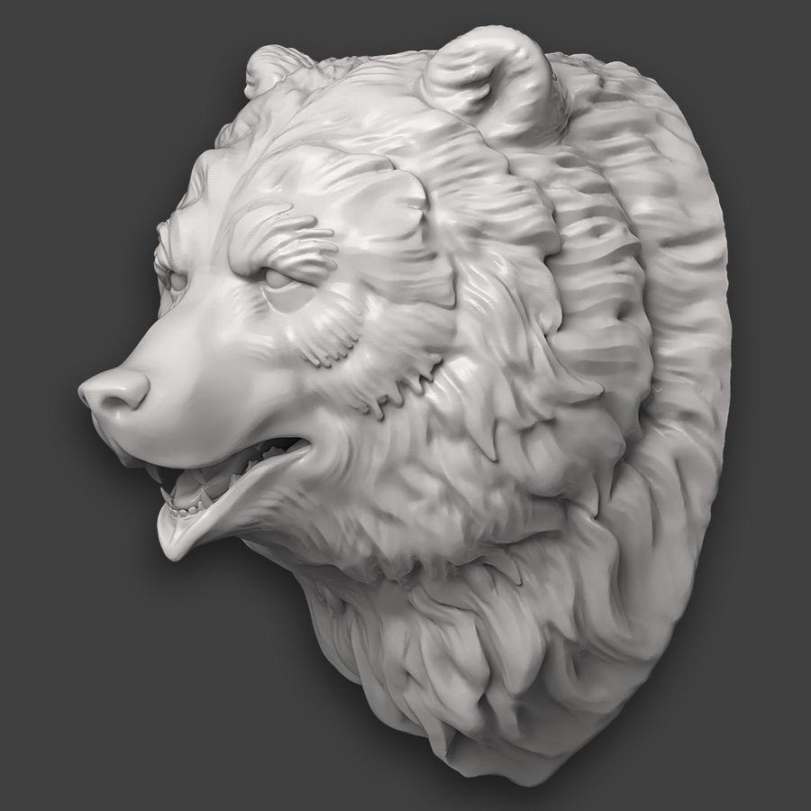 熊头雕塑 royalty-free 3d model - Preview no. 6