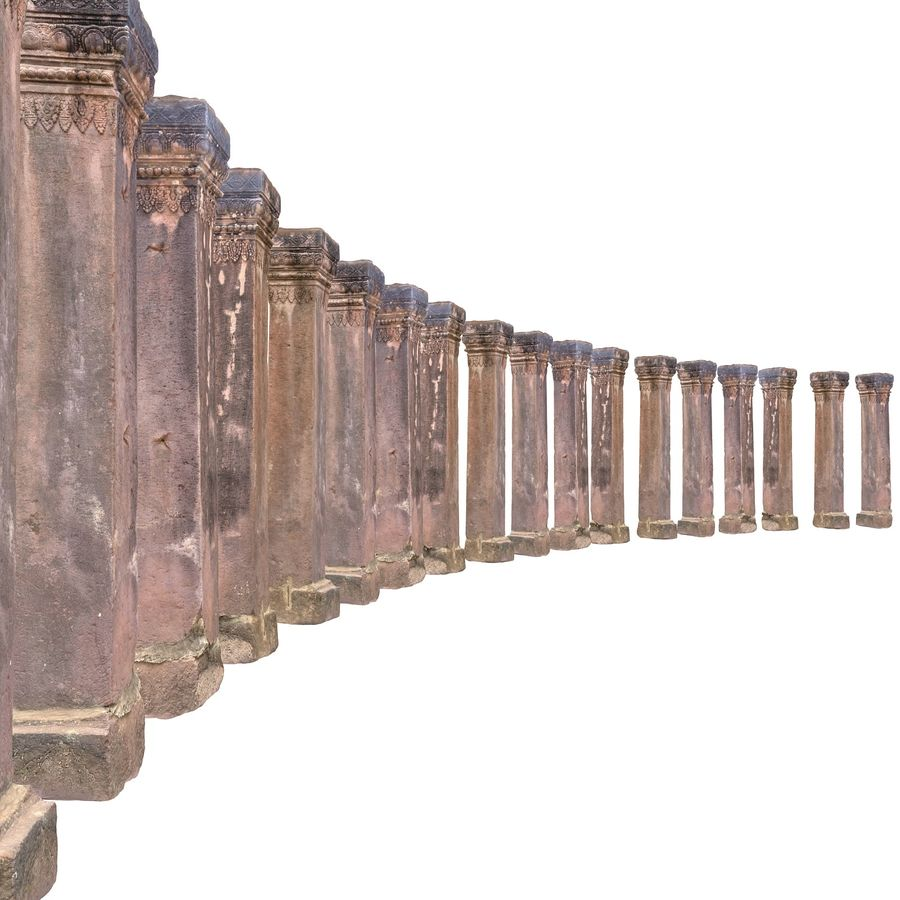 Ancient Column Cambodia royalty-free 3d model - Preview no. 5