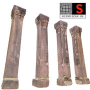 Coluna antiga Camboja 3d model