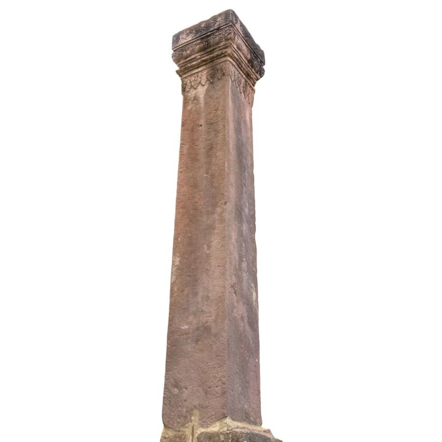 Ancient Column Cambodia royalty-free 3d model - Preview no. 4
