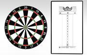 Dart Board & Score Board 3d model