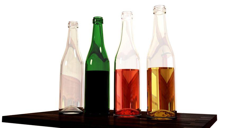 garrafa de vinho royalty-free 3d model - Preview no. 2