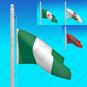 Flags of NIGERIA - Animated collection 3d model