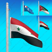Flags of SYRIA - Animated collection 3d model