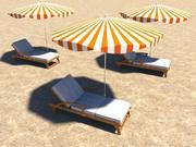 海滩鹿 3d model
