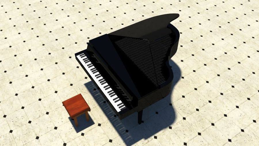 PIANO royalty-free 3d model - Preview no. 1