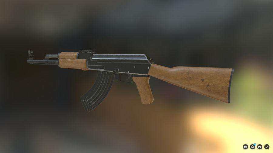 AK-47游戏 royalty-free 3d model - Preview no. 4
