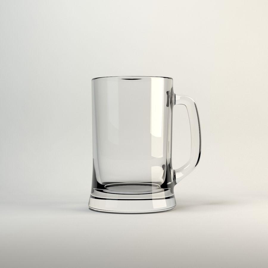 vidrio de cinco colores royalty-free modelo 3d - Preview no. 5