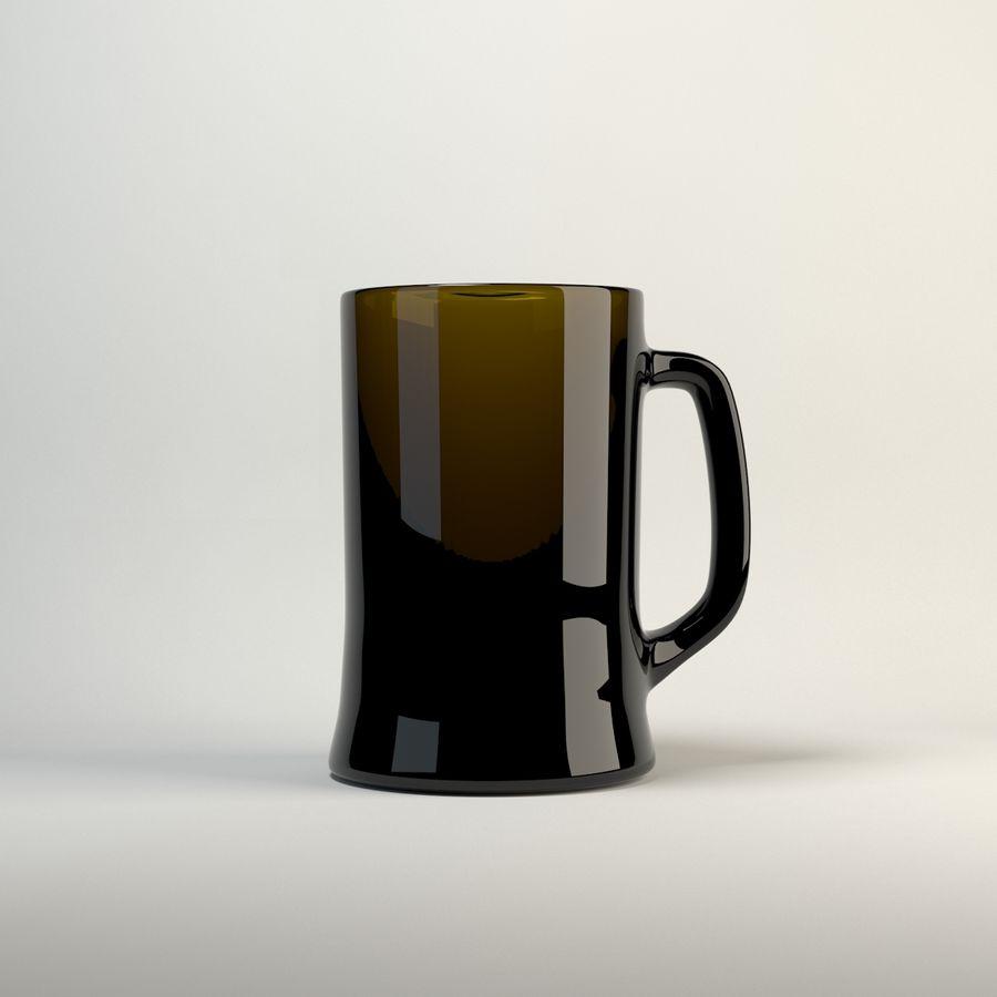 vidrio de cinco colores royalty-free modelo 3d - Preview no. 7