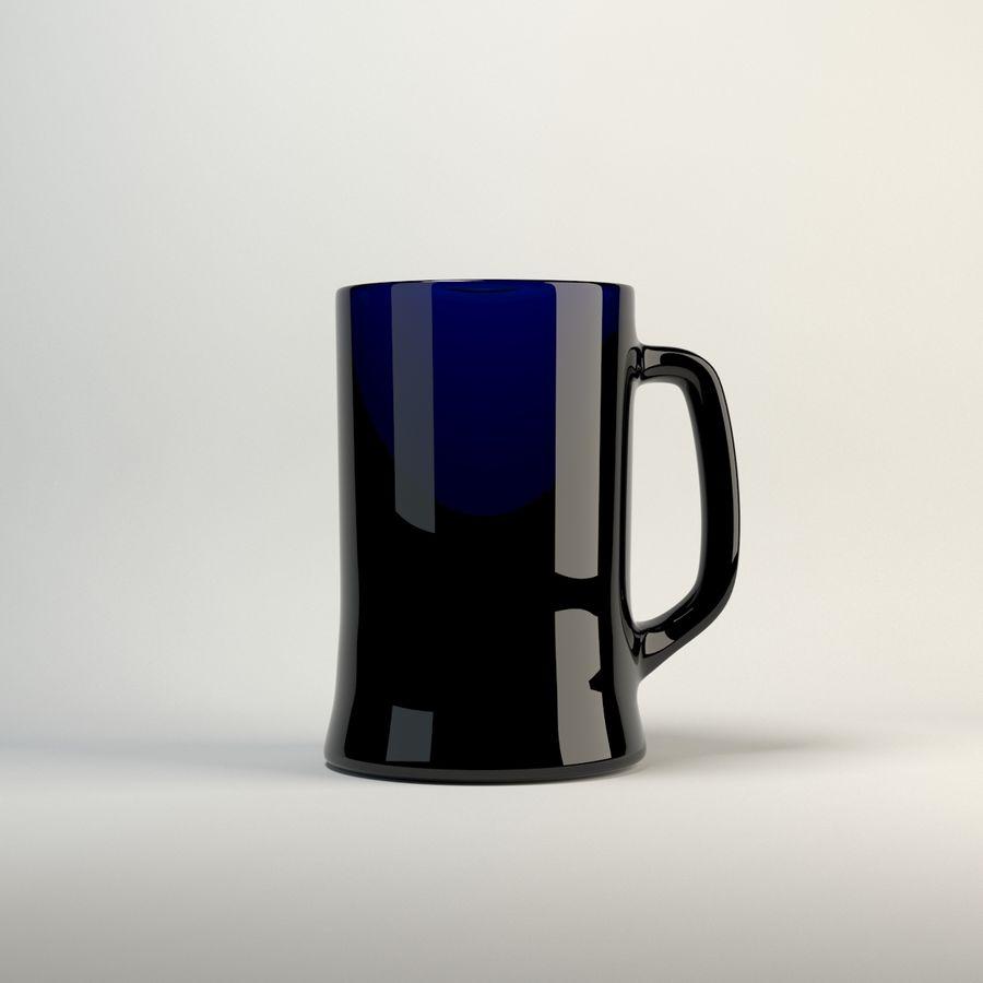 vidrio de cinco colores royalty-free modelo 3d - Preview no. 6
