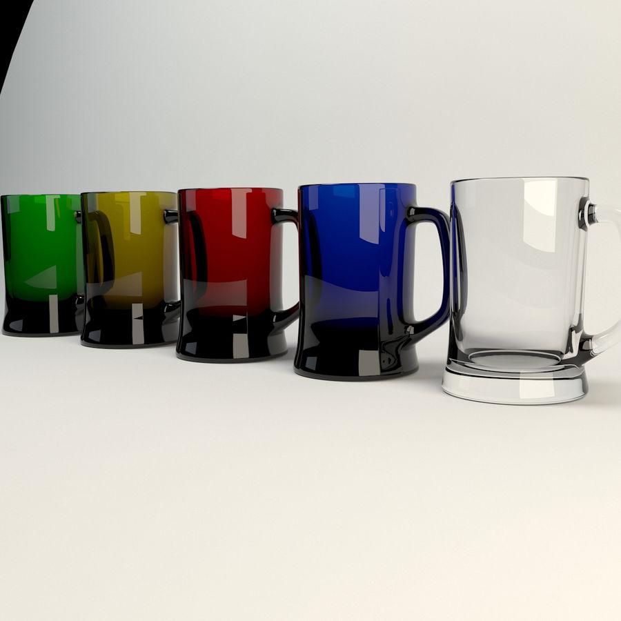 vidrio de cinco colores royalty-free modelo 3d - Preview no. 1