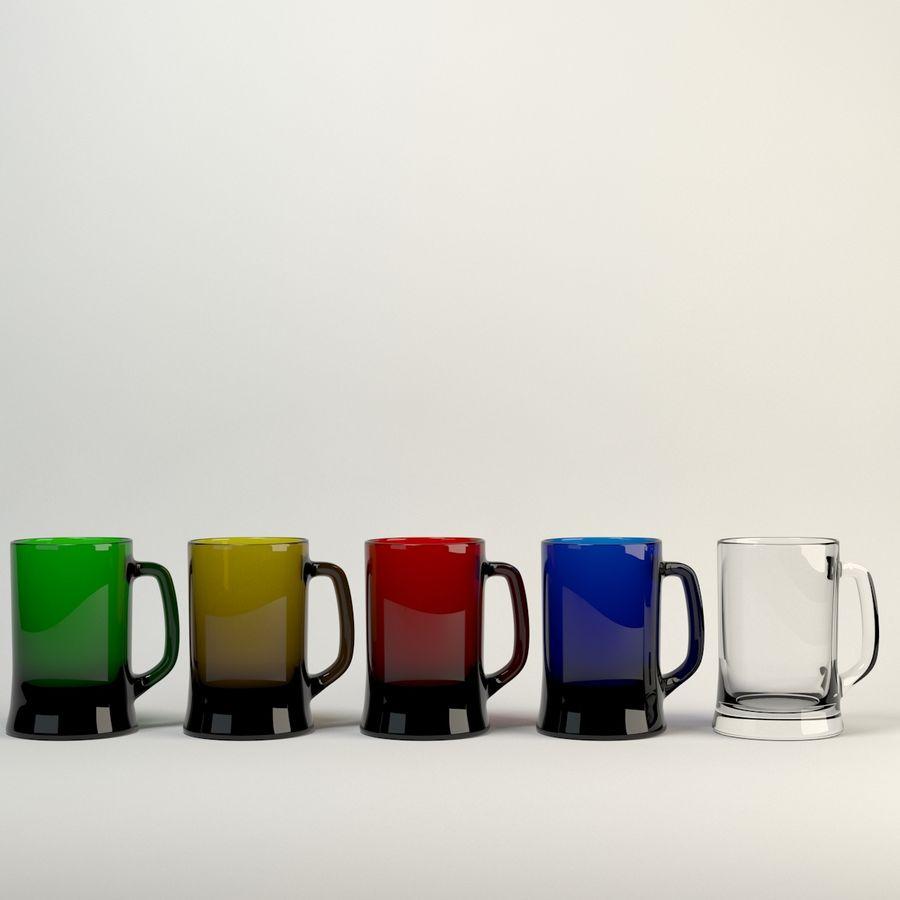 vidrio de cinco colores royalty-free modelo 3d - Preview no. 3