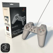 Play Station 1控制器低聚 3d model