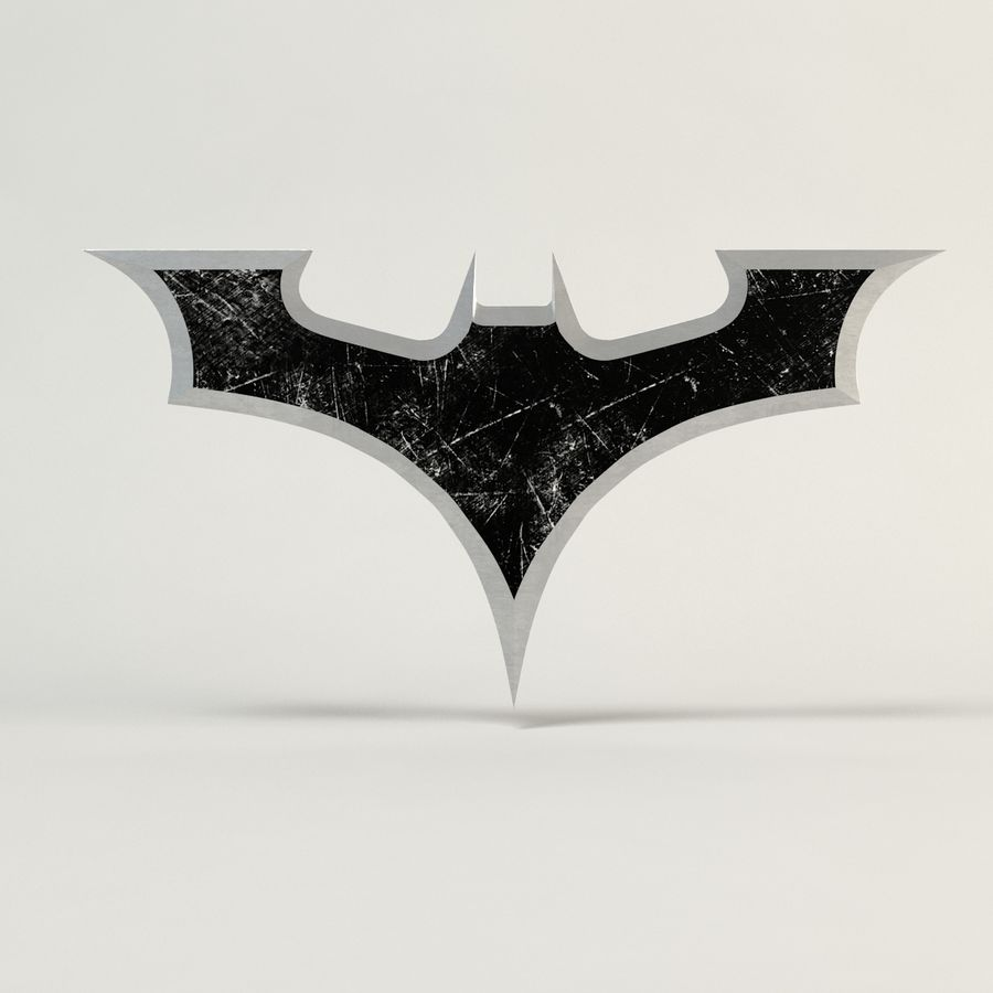 Batman Batarang royalty-free modelo 3d - Preview no. 5