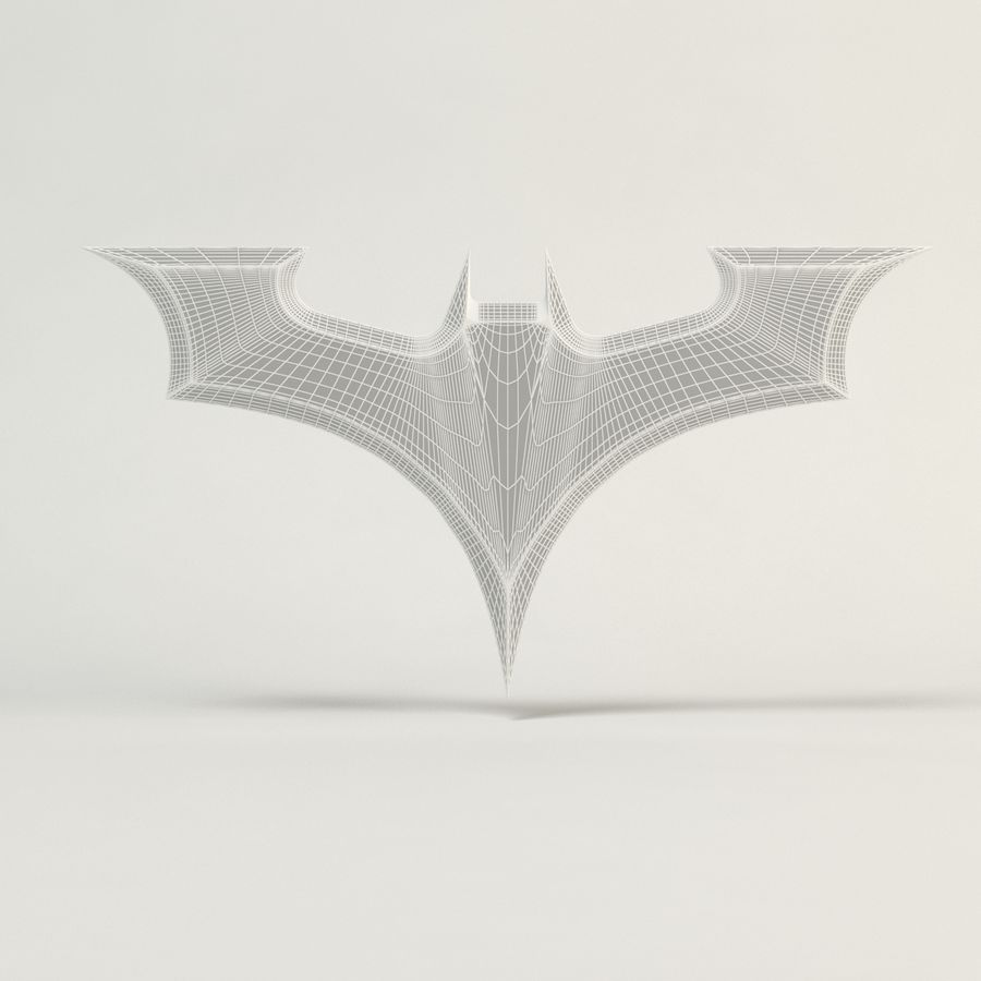 Batman Batarang royalty-free modelo 3d - Preview no. 6