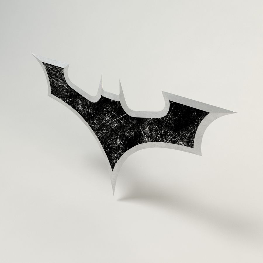 Batman Batarang royalty-free modelo 3d - Preview no. 3