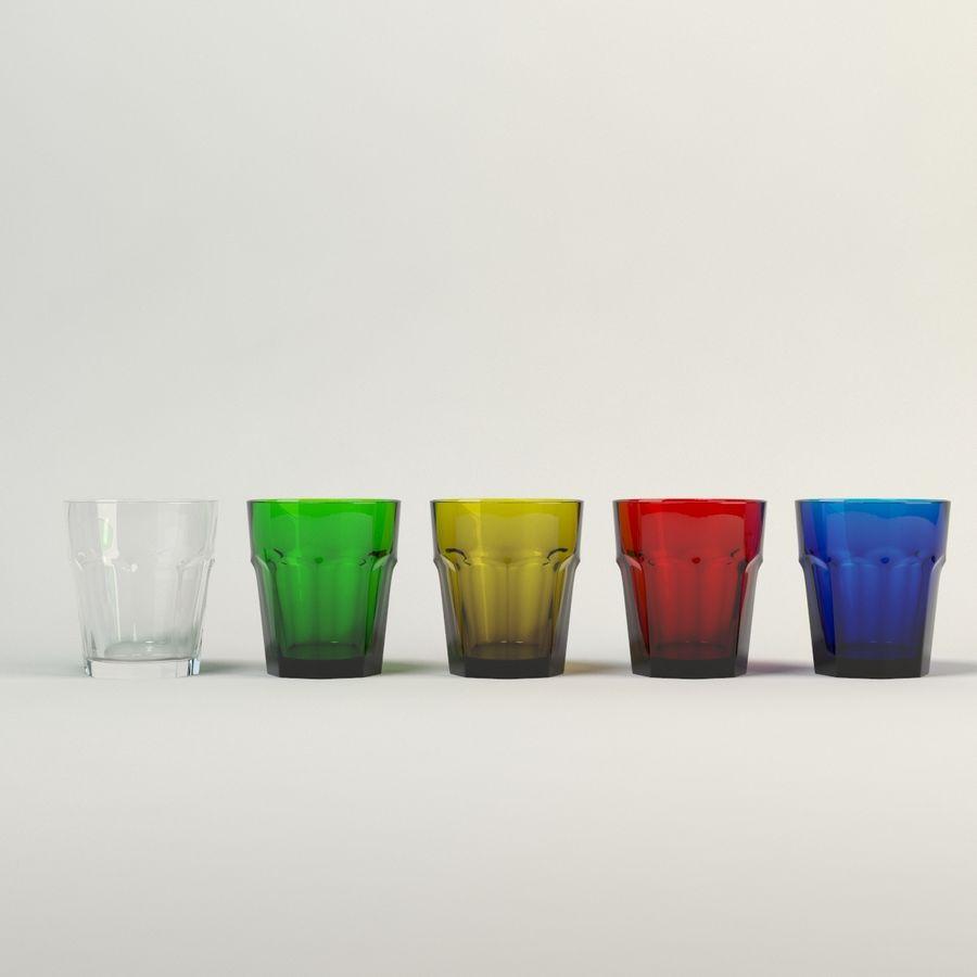 cinco cristalería de color royalty-free modelo 3d - Preview no. 1