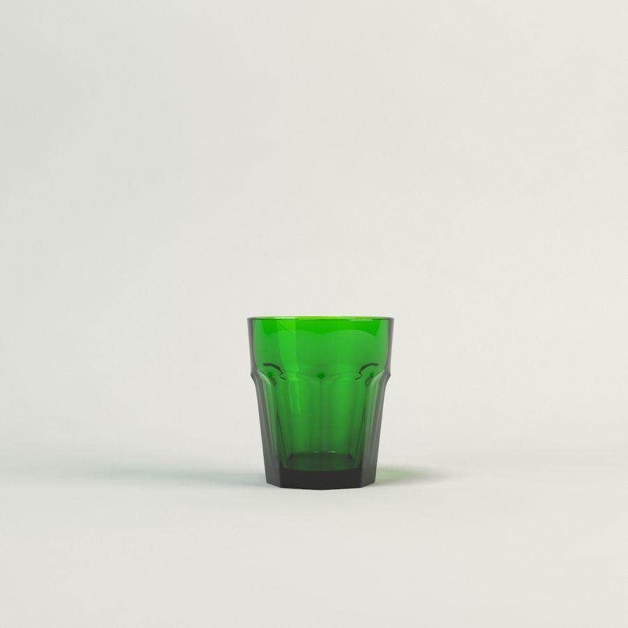 cinco cristalería de color royalty-free modelo 3d - Preview no. 7