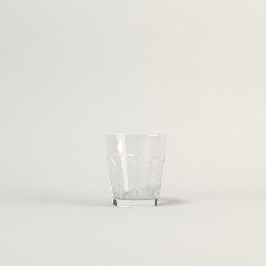 cinco cristalería de color royalty-free modelo 3d - Preview no. 5