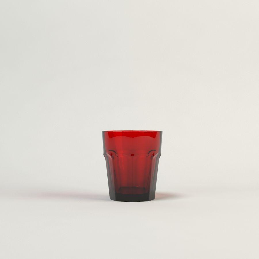 cinco cristalería de color royalty-free modelo 3d - Preview no. 8