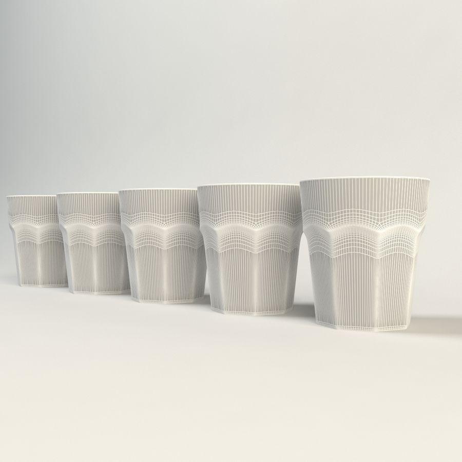 cinco cristalería de color royalty-free modelo 3d - Preview no. 3