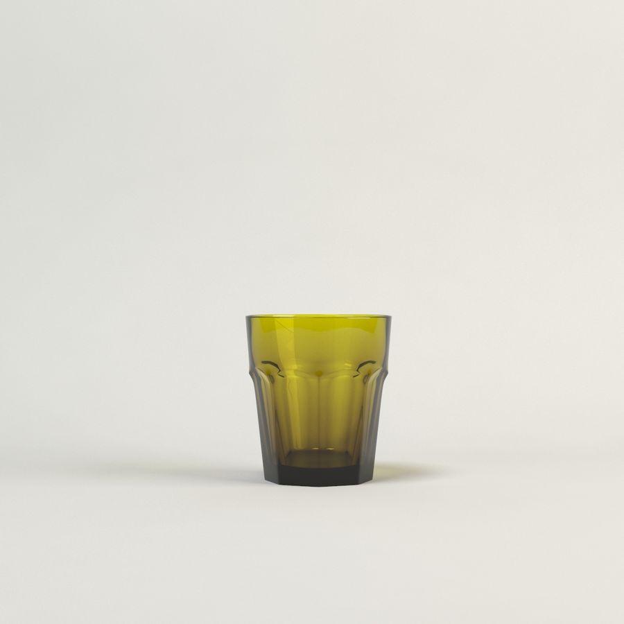 cinco cristalería de color royalty-free modelo 3d - Preview no. 9