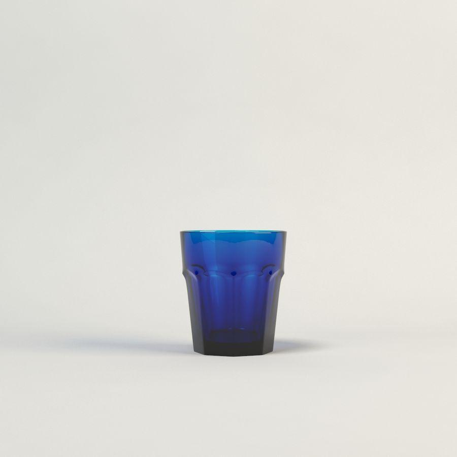 cinco cristalería de color royalty-free modelo 3d - Preview no. 4