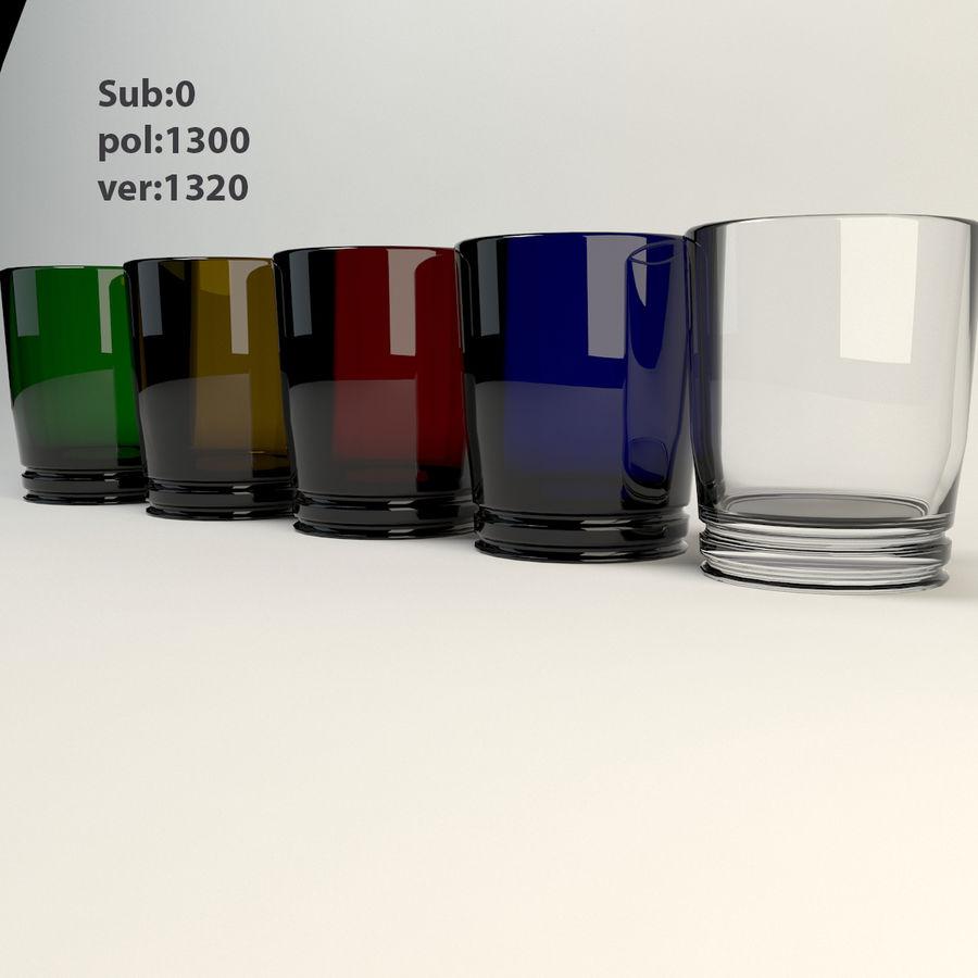 pięciokolorowe szkło royalty-free 3d model - Preview no. 5