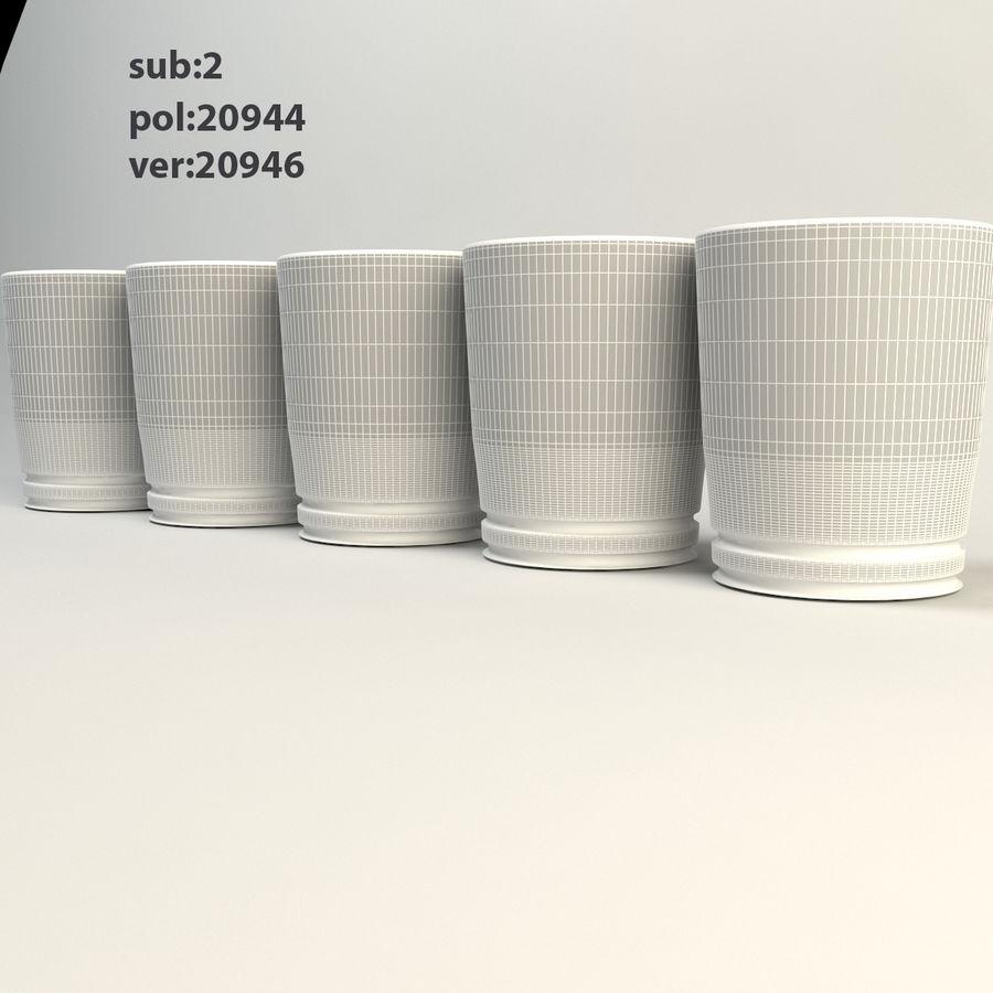 pięciokolorowe szkło royalty-free 3d model - Preview no. 2