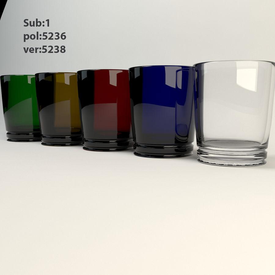 pięciokolorowe szkło royalty-free 3d model - Preview no. 3